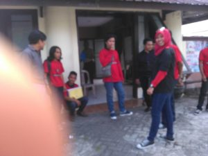 Anggota GRD saat melapor ke Polrestabes Makassar